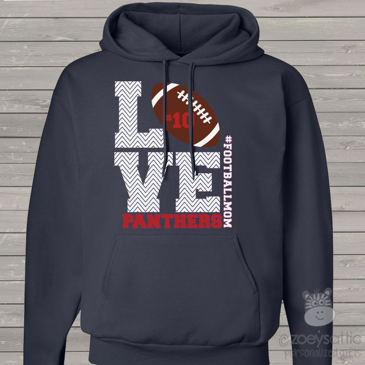 Glitter Football Mom lace hoodie