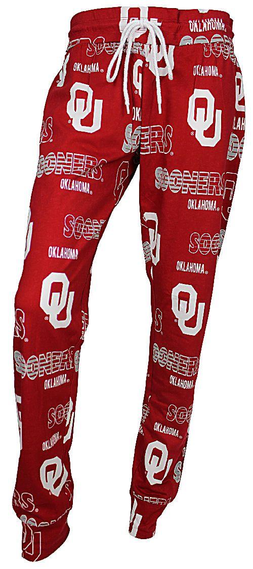 Ladies Oklahoma Sooners Crimson Sweep Sleep Pants by Concepts Sports $29.95