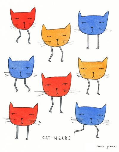 cat heads (by Marc Johns)