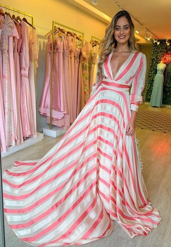 3edb4499d382 vestido de festa manga longa estampado | Bellas hot 3 em 2019 ...