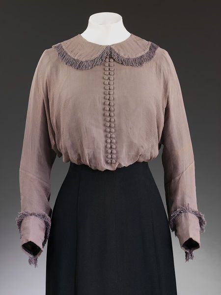 1912, England - Blouse by Mascotte - Silk chiffon, trimmed with fringe, lined