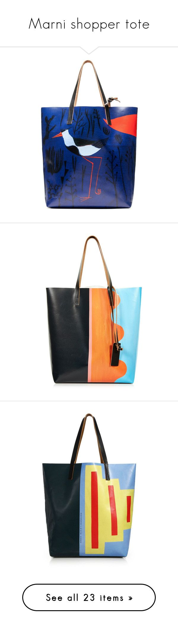 """""""Marni shopper tote"""" by chathurika-gamage ❤ liked on Polyvore featuring bags, handbags, tote bags, light navy, pattern tote bag, blue purse, print tote, blue handbags, navy blue purse and blue multi"""