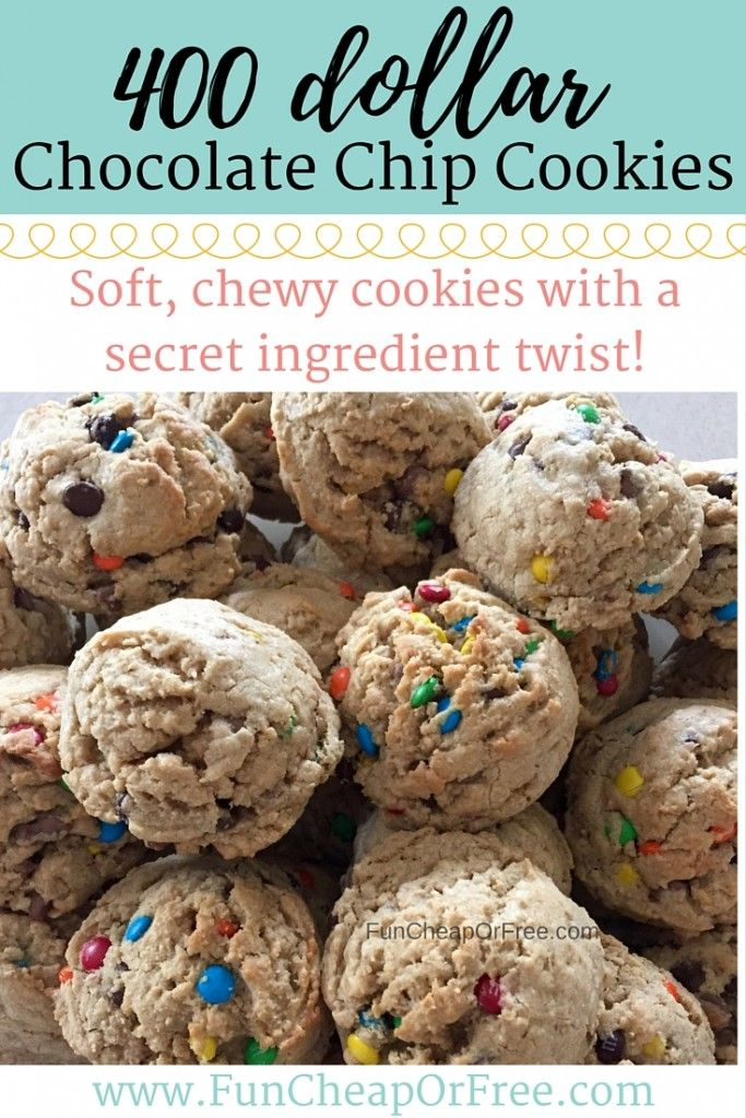 The best, chewiest, and most delicious cookies you'll ever make! This recipe has a secret ingredient that makes them so good, find out what it is! www.FunCheapOrFree.com