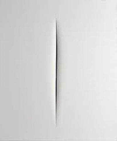 The Argentinean sculptor and painter, Lucio Fontana quite literally cuts through modern art, with these iconic paintings.