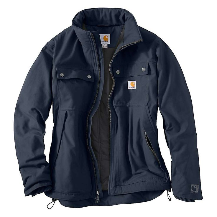 Carhartt Men's Quick Duck Jefferson Traditional Jacket - XL Regular - Navy