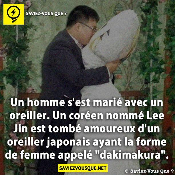 un homme s 39 est mari avec un oreiller un cor en nomm lee jin est tomb amoureux d 39 un oreiller. Black Bedroom Furniture Sets. Home Design Ideas