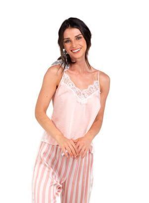 c1a6504580 Camiseta Tiras Palo Rosa