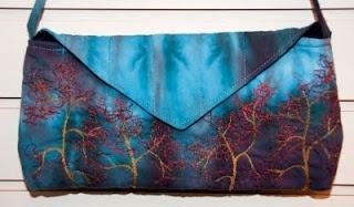 Freeform machine embroidery - trees.  Potomac Fiber Arts Gallery: April 2011: Potomac Fiber, April 2011, Freeform Machine, Machine Embroidery