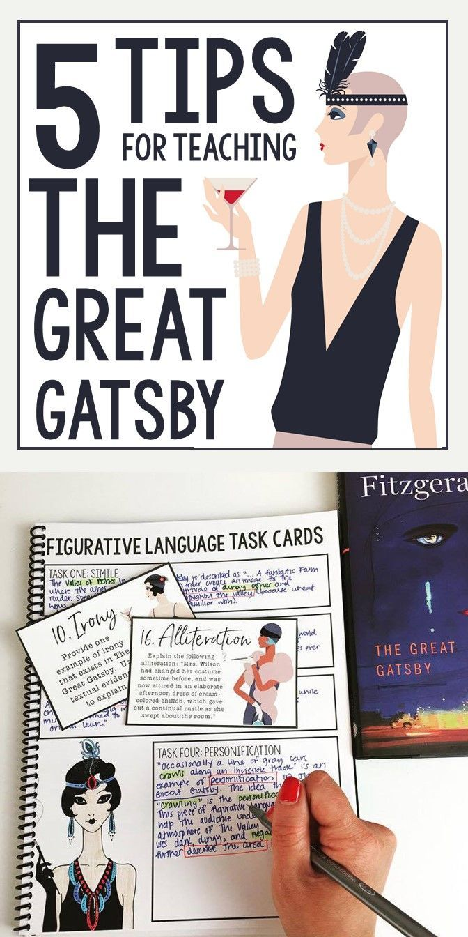 5 Tips For Teaching The Great Gatsby F. Scott Fitzgerald Middle And High  School