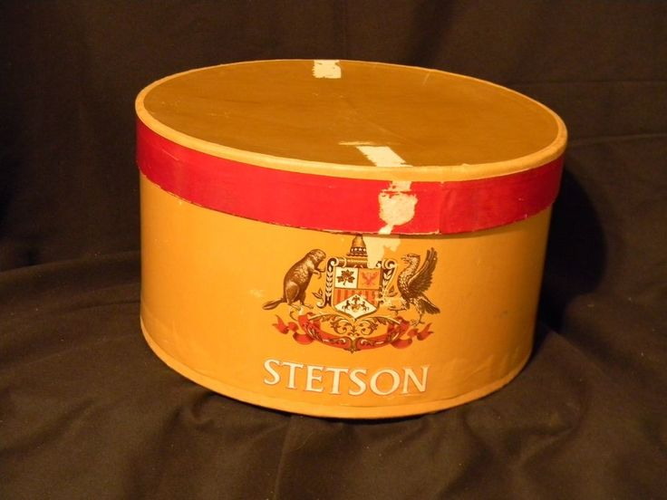 "Stetson Hat Box Only 1950's Oval 7 1/4"" Tall 14 3/4"" Length 13 1/4"" Width  