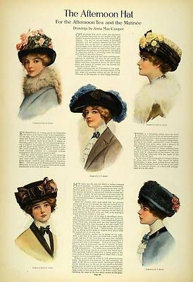 1911 Article Edwardian Lady Fashion Women Tea Hats Toques Accessories Millinery | eBay