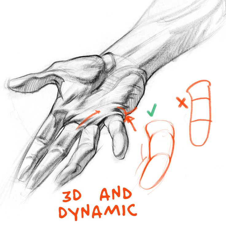 I want to help you improve the way you're drawing fingers. I'll go over a few things that will help you make your fingers more expressive, dynamic and 3D. I'll show you how to avoid 2 common mistakes - snowman and sausage fingers.