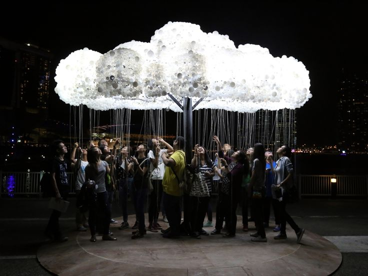 Illuminated, interactive clouds and giant lampshades attract attention at Lux Helsinki - News - Frameweb