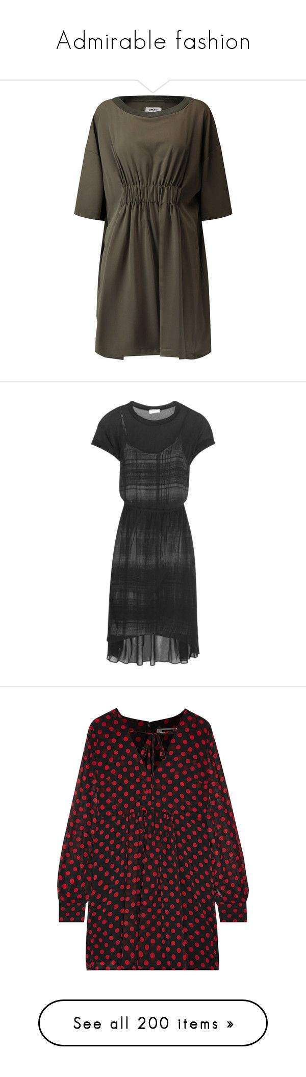 """""""Admirable fashion"""" by katelyn999 ❤ liked on Polyvore featuring dresses, army green, ribbed mini dress, army green dress, loose fitting dresses, olive green dresses, mini dress, black, midi dress and oversized dress"""