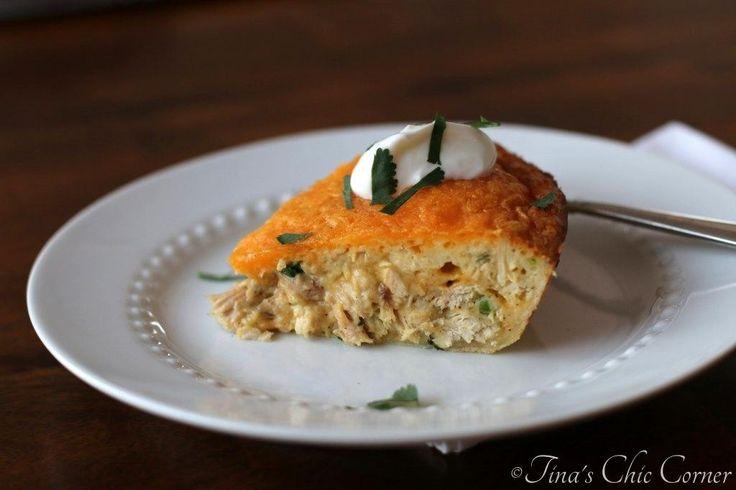 Chicken Quesadilla Pie - www.tinaschic.com