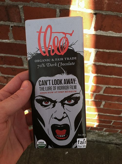 Theo dark chocolate - horror movie package. Want.