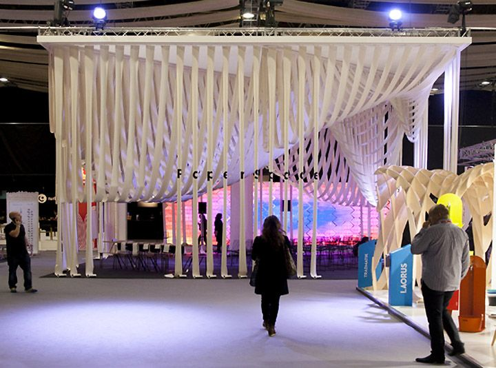 Paper Space installation by Studio Glowacka & Maria Fulford Architects, London installation exhibition