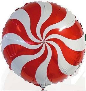 Balão Pirulito Vermelho Redemoinho dos Doces Candy Swirl Blue - Estilo e festas