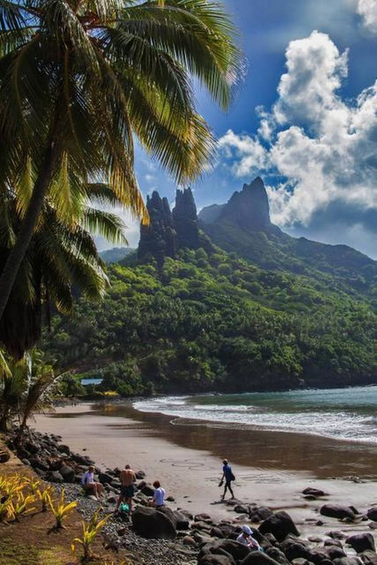 Nuku Hiva in the Marquesas islands, French Polynesia. I have always wanted to go to these remote islands, a speck in the huge Pacific oceon....