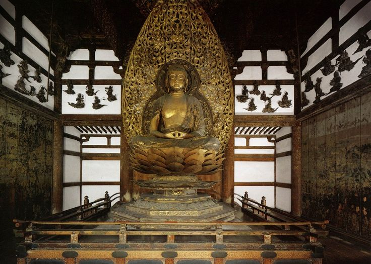 国宝 丈六阿弥陀如来坐像 平等院鳳凰堂 National treasure Seated Statue of Amitabha Tathagata in Phoenix hall of Byodoin, Kyoto