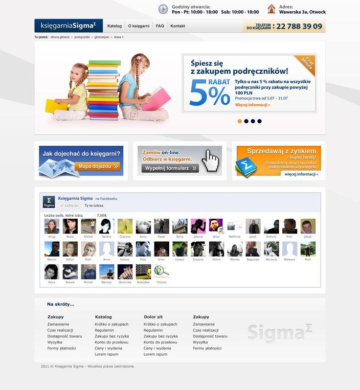 Strona główna księgarni SIGMA.