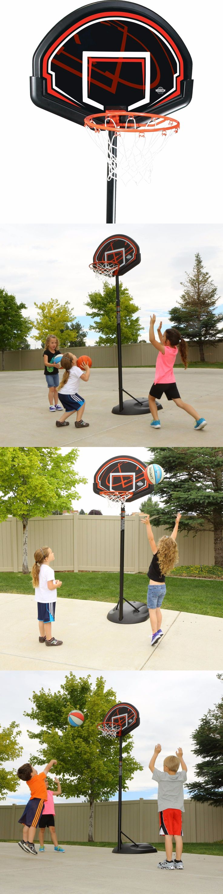 Backboard Systems 21196: Sale Basketball Hoop Pro Mini Adjustable Backboard Rim System Portable BUY IT NOW ONLY: $100.3