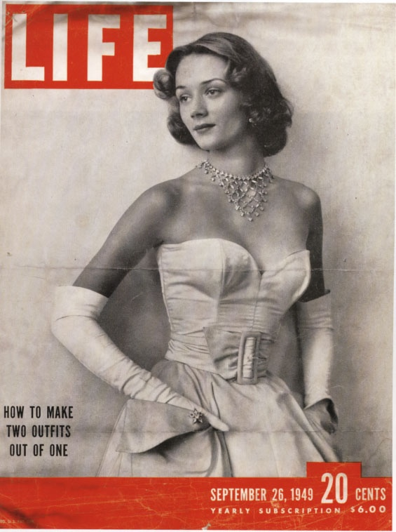 Niki de Saint Phalle (19 yrs) on the cover of Life Magazine