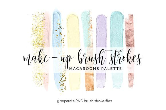Brush Strokes Clipart Macaroons By Blush Marble Studio On