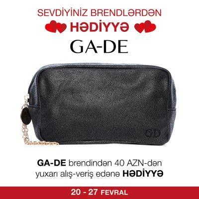 GA-DE brendindən 40 AZN dəyərində alış-veriş edənə kosmetik çanta hədiyyə #GADE #kosmetik  #çanta #hədiyyə