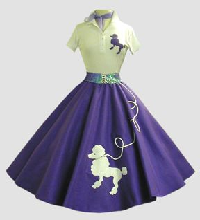 1950s style. High waist, wide skirts, and collars. Oh and poodle skirts! Can't forget them!  http://sussle.org/t/Fashion