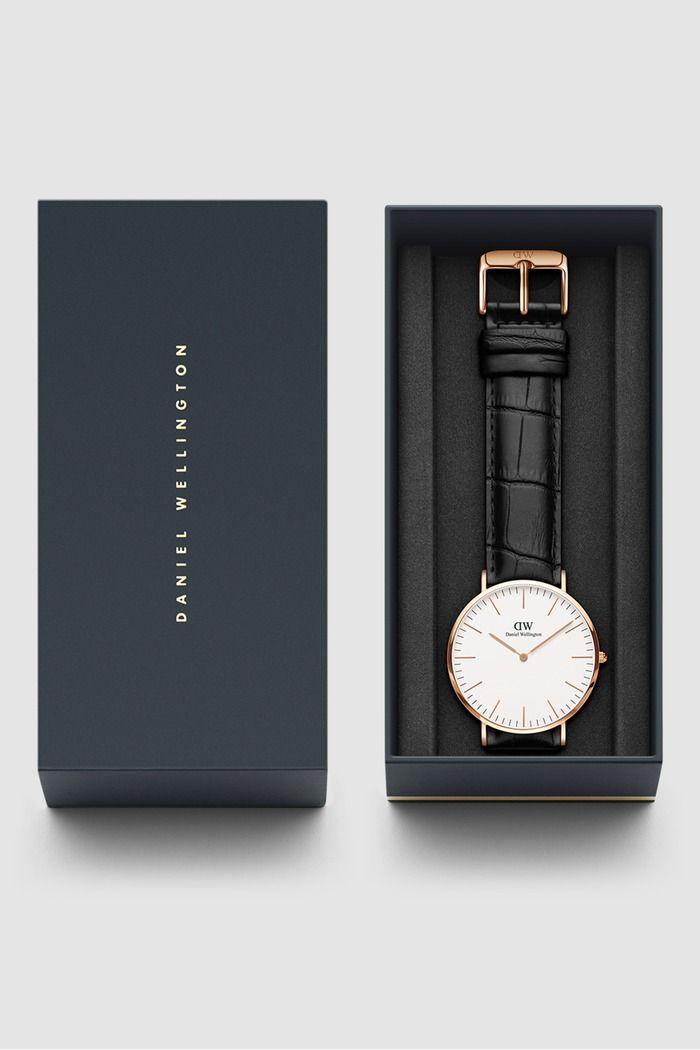 ساعة كلاسيك ريدنج وردية ذهبية 40 مم Daniel Wellington Classic Beautiful Watches Brown Band