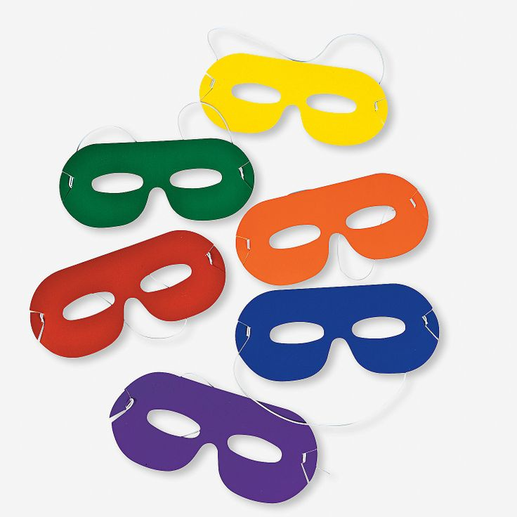 Bright Color Masks - OrientalTrading.com