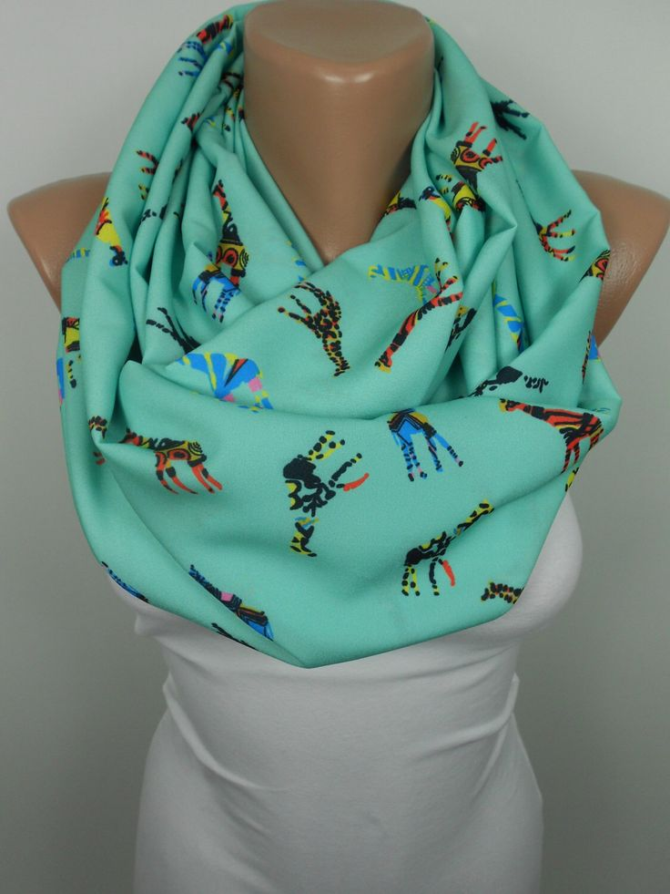 Giraffe Scarf Animal Infinity Scarf Mint Scarf Valentines Day Mothers Day Women Fashion Accessories Gift Ideas For Her For Teens S by ScarfClub on Etsy https://www.etsy.com/listing/177560554/giraffe-scarf-animal-infinity-scarf-mint