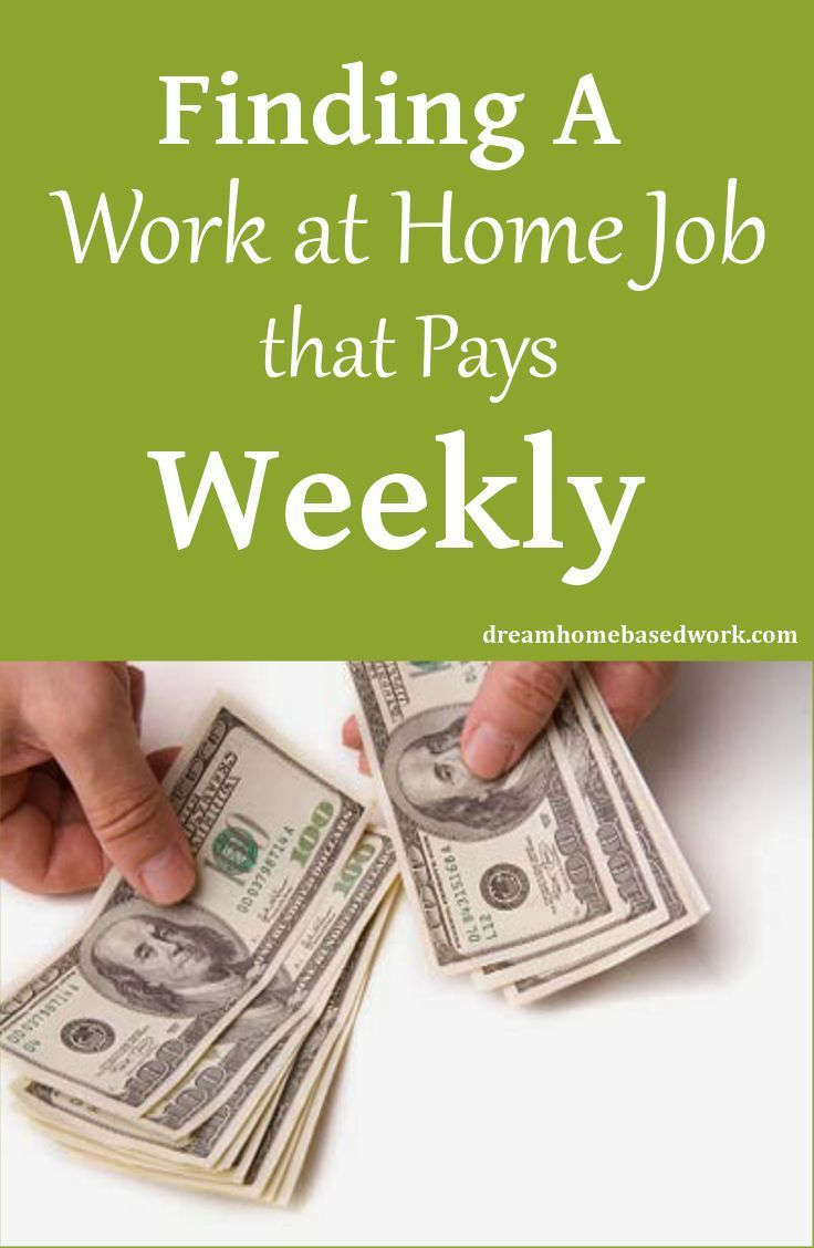 List of #Work at Home Jobs that pays daily, weekly, or more often at Dream Home…