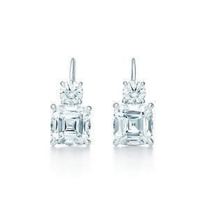 LOVEEEEEEEE.....Tiffany Co.Tiffany Legacy® earrings in platinum with diamonds. There is nothing like