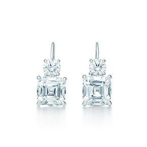 LOVEEEEEEEE.....Tiffany Co.Tiffany Legacy® earrings in platinum with diamonds. There is nothing like