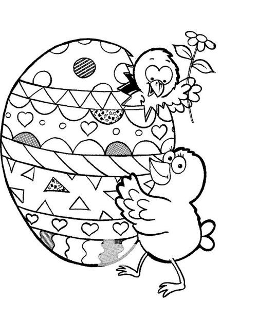 Easter Coloring Page To Print Out And Color Picture 003