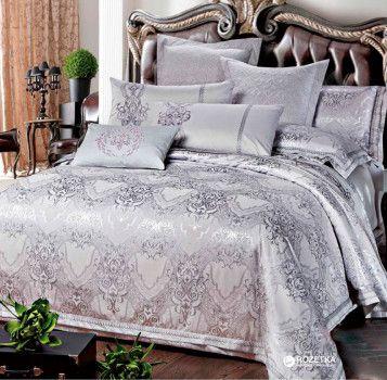 Комплект постельного белья Love You Жаккард с вышивкой 1-25 200х220 (m012133)