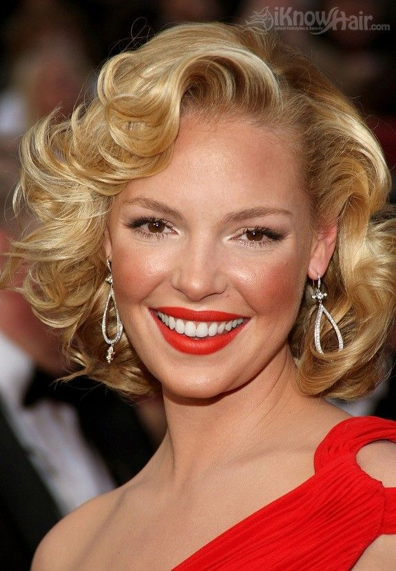 Katherine Heigl: Shorts Curly Hairstyles, Vintage Hairstyles, Hollywood Hairstyles, Short Hairstyles, Katherineheigl, Katherine Heigl, Hair Style, Pin Up Hairstyles, Shorts Hairstyles