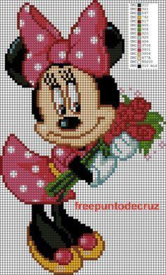 Dibujos Punto de Cruz Gratis: Minnie punto de cruz Cross Stitch