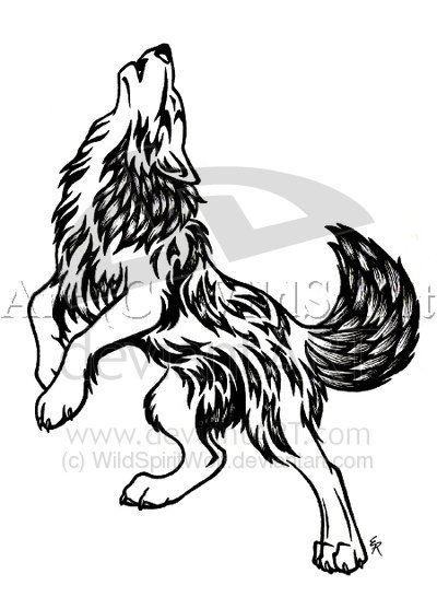 new gallery tattoo: Tribal Wolf Tattoos Design