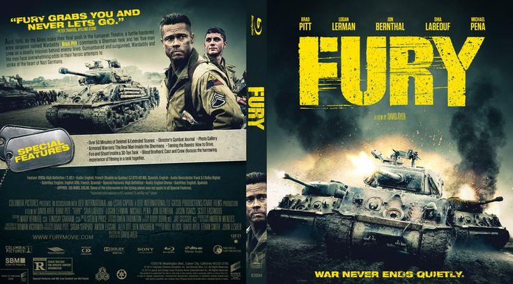 Fury Blu-ray Custom Cover
