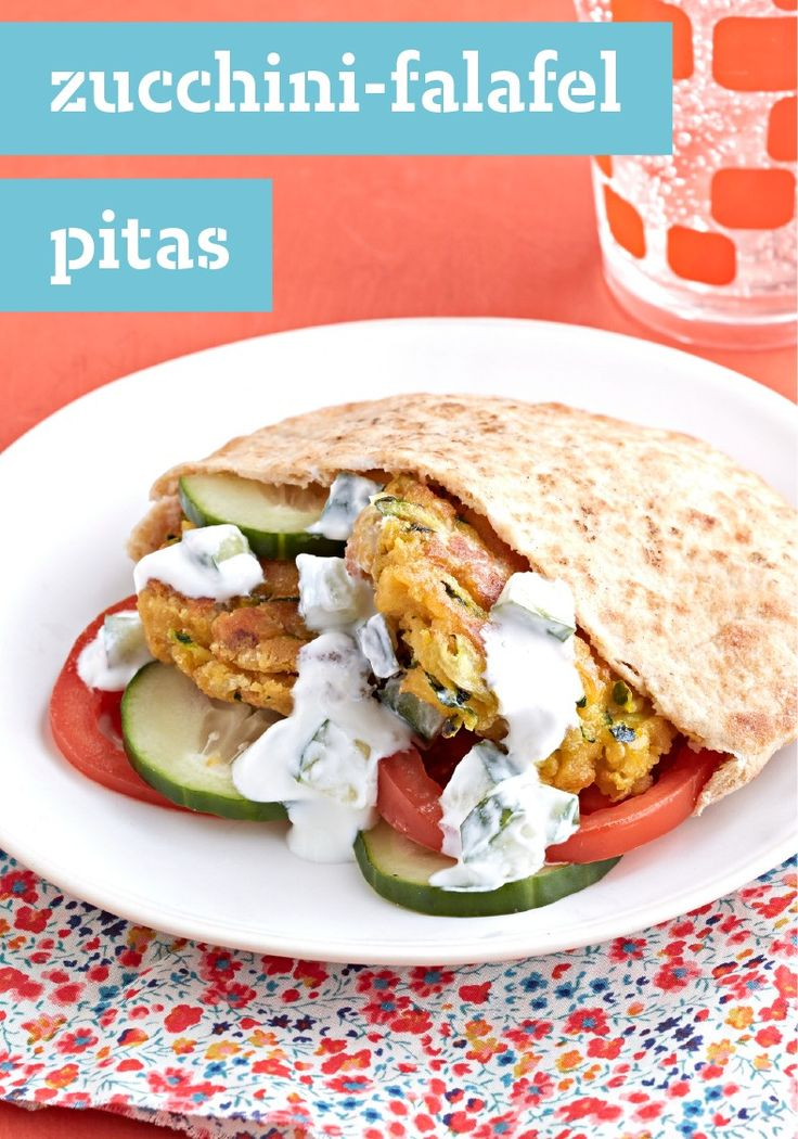 Zucchini-Falafel Pitas – If you're not lucky enough to have a falafel truck parked nearby, create your own luck at home! Get out the chickpeas and zucchini and let's get cooking.