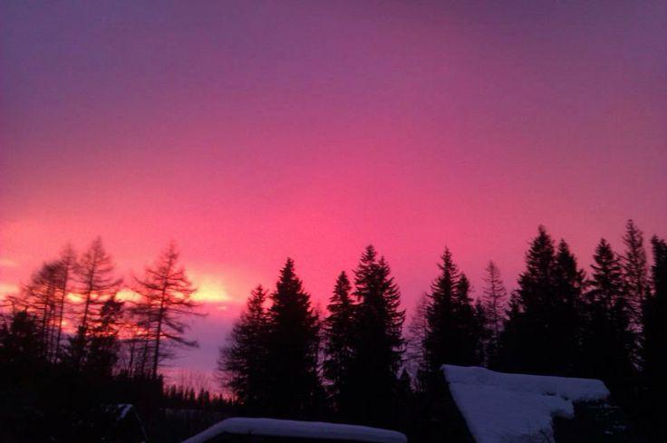 západ slnka,Tatry