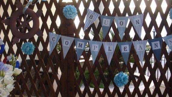 bandierine buon compleanno di Verdecannella su Etsy