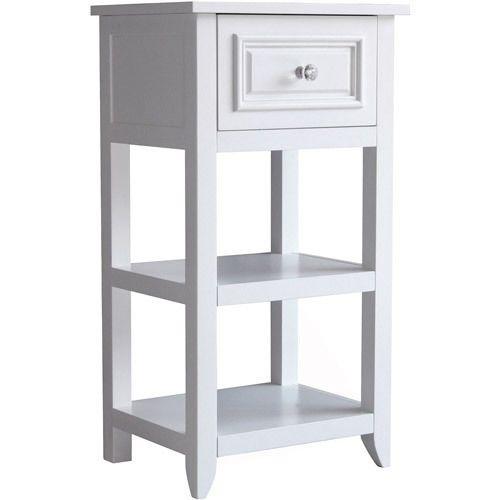 Bath Floor Cabinet Bathroom Storage Space Wood Towel Organizer Drawer Elegant #ElegantHomeFashions