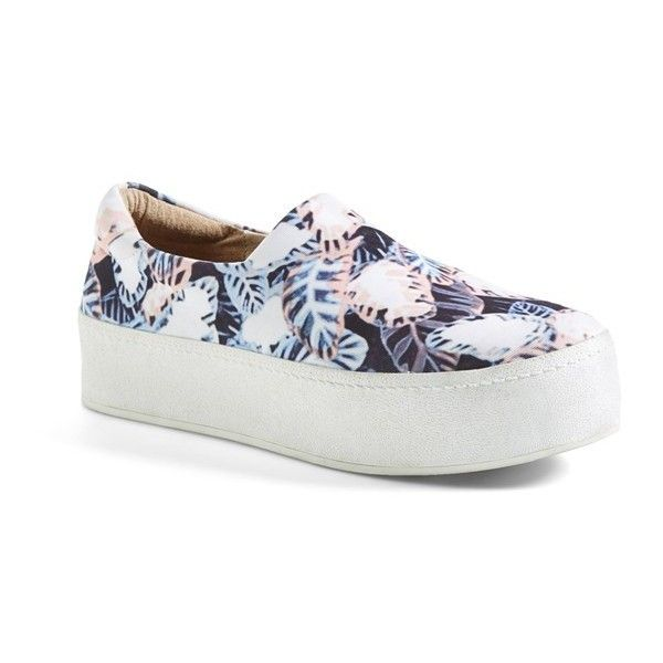 Women's Opening Ceremony 'Grunge' Slip-On Platform Sneaker ($225) ❤ liked on Polyvore featuring shoes, sneakers, platform sneakers, slip-on sneakers, pull-on sneakers, platform shoes and opening ceremony shoes