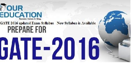 GATE 2016 updated Exam Syllabus
