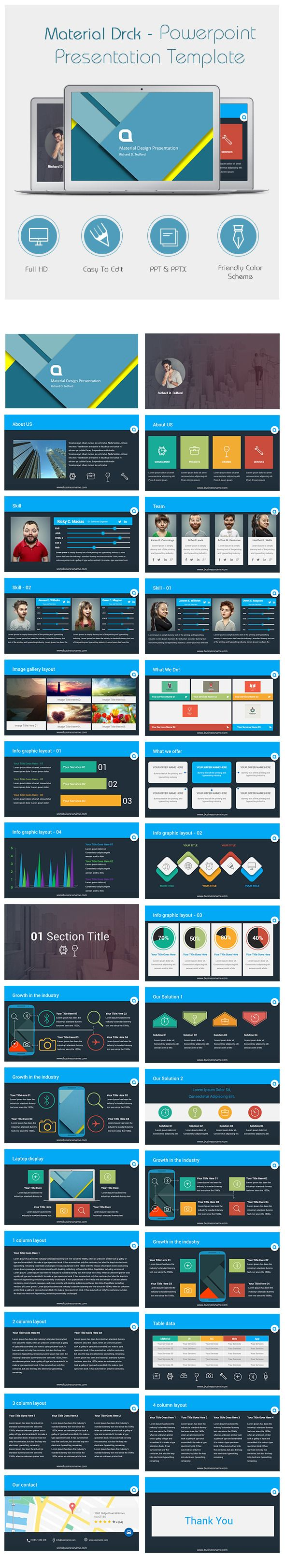 Material Drck Powerpoint Presentation Templates #design Download: http://graphicriver.net/item/material-drck-powerpoint-presentation-templates/11409286?ref=ksioks