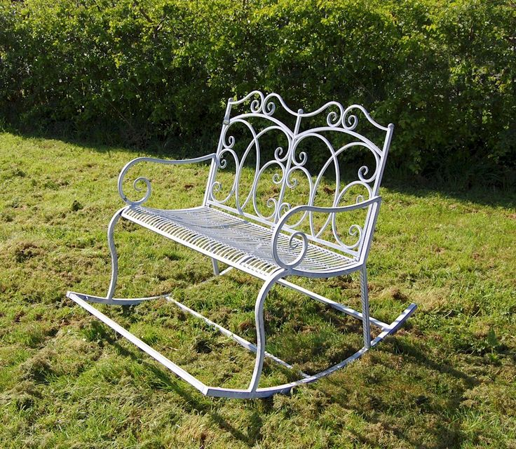 steel double rocking bench in an antique grey finish while away the hours with a garden chairsgarden furniturechair benchbistro